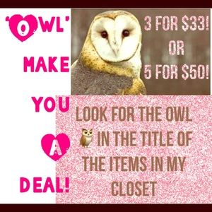 🦉🦉Bundle items to receive discount in offer!🦉🦉